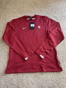 University of Oklahoma Boomer Sooner Nike Mens M Long Sleeve Crewneck Sweatshirt