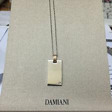 COLLANA Damiani diamante oro bianco 20023774 man dog tags incisione Uomo