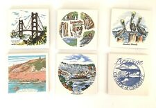 Vtg 6 Lot Collector Us Travel tile trivets San Francisco Bridge Niagara Gay Head