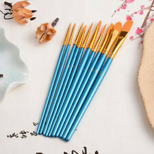 10Pcs Art Painting Brushes Set Acrylic Oil Watercolor Artist Paint Brush Dulcet