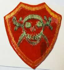 MILITARY PATCH - SYRIA COMMANDO BADGE GREEN ON RED GOLD BORDER