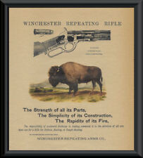 Winchester 1873 Repeating Rifle Advertisement Reprint On 100 Year Old Paper 107