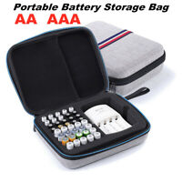 AA AAA Battery Charger Organizer Storage Bag Electronic Accessories Travel Box