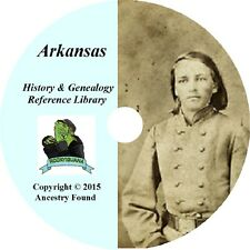 ARKANSAS - History & Genealogy -75 old Books on DVD - Ancestors, County, CD, AR