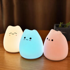 7 Colors Cute Cat Silicone Lamp Touch Sensor LED Night Light Child Bedroom Lamp