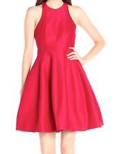 Halston Heritage Red Women Size 12 Sheath Cutout Fit & Flare Dress $445 #149