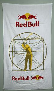 "RARE - Red Bull Towel - Bryson DeChambeau Swing - 24""x42"" Velour Towel"