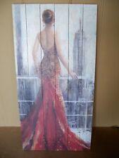 Bild Spanish Lady Print auf Holzpaneelen Holzfaserplatte 120 x 60 cm UNIKAT