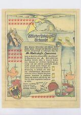 Äquatortaufschein  2. Linientaufe - Panzerschiff  Deutschland