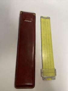 NICE! 1960 Pickett Slide Rule  N 3-ES Power Log Exponential Dual Base W/Case
