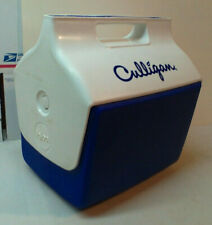 VINTAGE NEW IGLOO LUNCHMATE, LITTLE PLAYMATE, BLUE & WHITE CULLIGAN DRINK COOLER