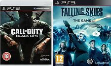 CALL OF DUTY  BLACK OPS & FALLING SKIES GAME  PS3 PAL   new&sealed