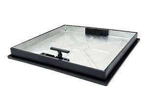 450mm Dia x 43.5mm Square-2-Round Sealed Locking Internal Recessed Manhole Cover
