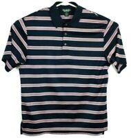 Brooks Brothers mens medium Country Club Polo Shirt Performance Cotton Striped