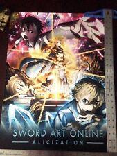 Sword art Online Alicization World Premiere Exclusive Poster kirito alice Eugeo