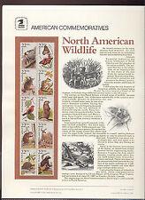 #2286-2335 Wildlife Set #282-6 USPS Commemorative Stamp Panels