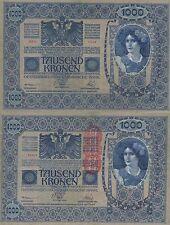 AUSTRIA 1000 KRONER. 2 de Junio de 1902. Serie 1548. Nº 55204. Tamaño 193x130.