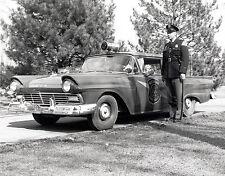 1957 Michigan Highway patrol with New 57 Ford Interceptor 8 x 10 Photograph