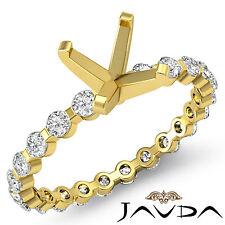 Asscher Semi Mount Fine Diamond Engagement Bar Setting Ring 14k Yellow Gold 0.4C