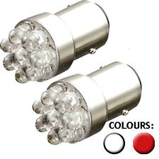 9 LED 207 1156 BA15s R5W R10W Stop Tail LED bulbs RED