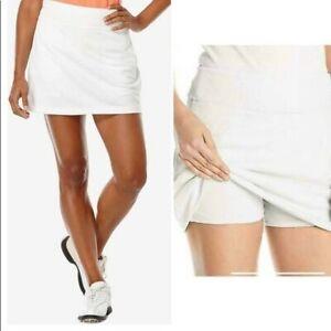 New PGA Tour Womens Solid Knit Skort Skirt Tummy Control Bright White S