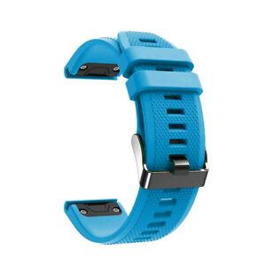 Laufbursche Zubehör Ersatz Armband für Garmin Fenix 6 Silikon hellblau