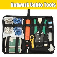 Network Ethernet LAN Kit RJ45 Cat5e Cat6 Cable Tester Crimper Crimping Tool Set