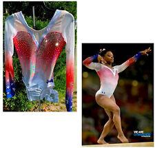 2016 USA Olympic TEAM Leotard Under Armour GK ELITE Gymnastics Competition Bling