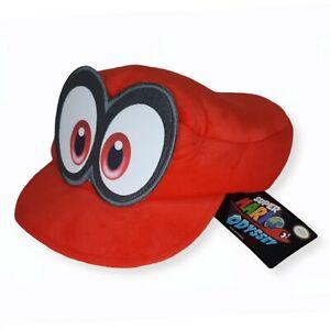 Super Mario Bros Odyssey Video Game Red Plush Cap OSFA Nintendo Cappy Hat NWT
