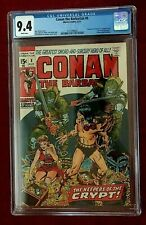 Conan The Barbarian #8 CGC 9.4  Aug 1971 Marvel White Pages Barry Winsor Smith