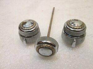 80 81 82 83 84 Vintage Cadillac Gold Wreath Radio Knobs & Headlight Pull Knob