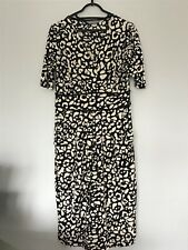 Marks and Spencer Ladies Black/Cream Animal Print Dress size 10