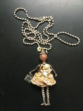 """RS Paris Collection Necklace/Pendant French Doll 30"""" Chain"""