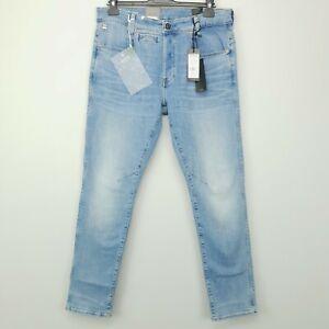 G-Star Raw D-STAQ 5 Pkt STRETCH RRP £100 Jeans W33 L32 Light Indigo Slim Tapered