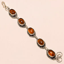 Amber Bracelet Silver Plated Handmade Gemstone Bracelet Fashion Jewelry