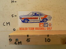 STICKER,DECAL DEALER TEAM VAUXHALL GULF GM NO 1