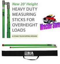 20' QUICK VEHICLE TRAILER LOAD HEIGHT MEASURING STICK with Standard & Metric