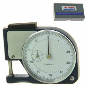 """Pocket Thickness Gauge 0.5""""/0.001"""" Gage Micrometer Caliper Quick Paper Measure"""