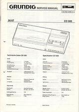 Grundig Service guía manual CD 500 b779
