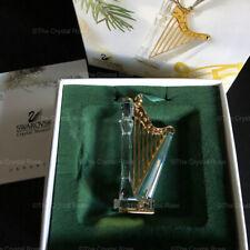 RARE Retired Swarovski Crystal Christmas Memories Harp Ornament 235907 Boxed