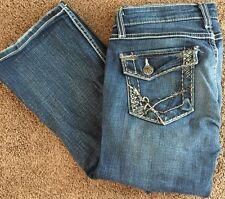 "Long BKE ""Stella Boot"" women's Buckle Denim jeans 29 / 33.5 (1/2) Sequin Pockets"