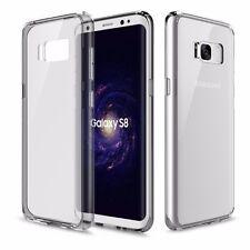 ORIGINAL ROCK Silicona Funda Estuche Transparente / gris para Samsung Galaxy S8