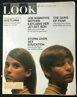 LOOK MAGAZINE - Sep 9 1969 - SEX EDUCATION / Svetlana Stalin / Joe Namath / Guns