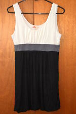 21  WOMEN'S DRESS  Bacl Gray Ivory  LARGE   Bubble Hem   Lady's clothes clothing