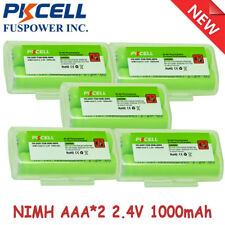 5x AAA*2 1000mAh 2.4V Cordless Phone Battery For Panasonic KXTGA430B KXTG9381T