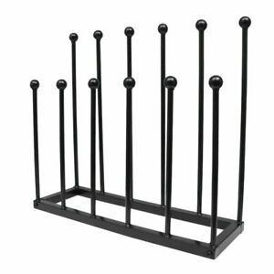 6 Pairs Boot Rack Wellie Welly Holder Stand Wellington Shoe Storage Dryer Metal