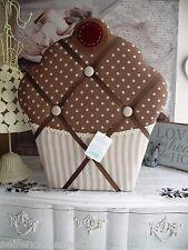 Cupcake Board Fabric pinnbrett Cards Holder Photo Holder Memory Board Brown 644