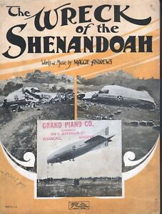 Wreck of the Shenandoah 1925 Blimp Crash Sheet Music