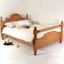 4ft6 Double Bed STRONG Frame Solid Pine Wood HIDDEN FITTINGS Classic Rail