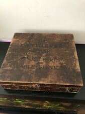 Vintage 1930-40's Resillion Cantilever Brake Spare Parts Original Wooden Box
